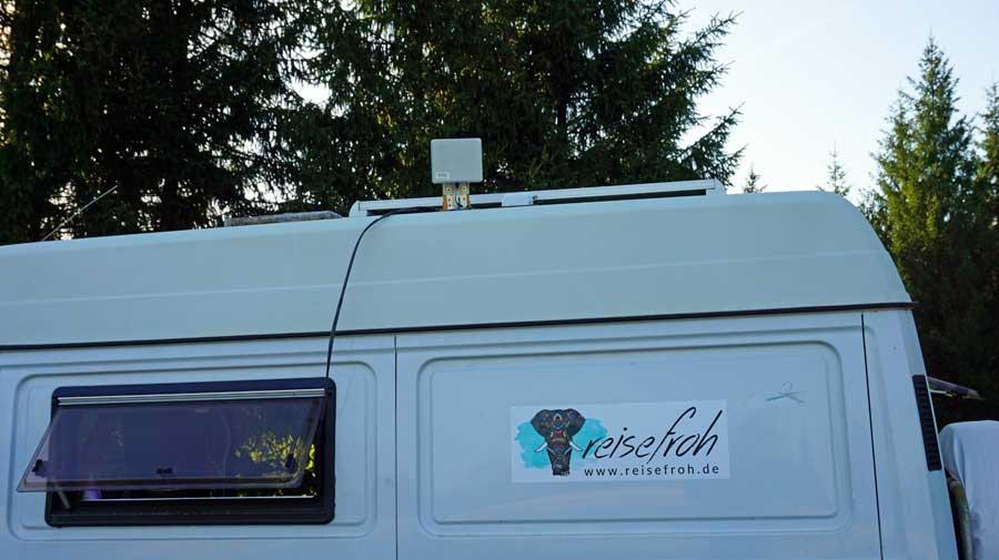 Internet im Wohnmobil: Außenantenne Empfang 3G 4G