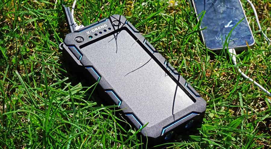 Solar Powerbank Test: Akku X-DNENG