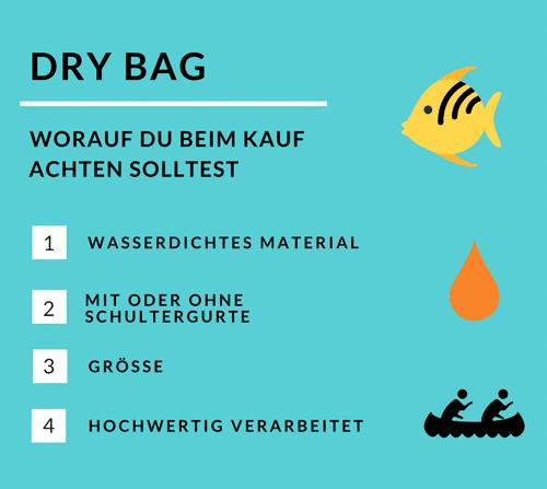 Dry Bag: Infografik