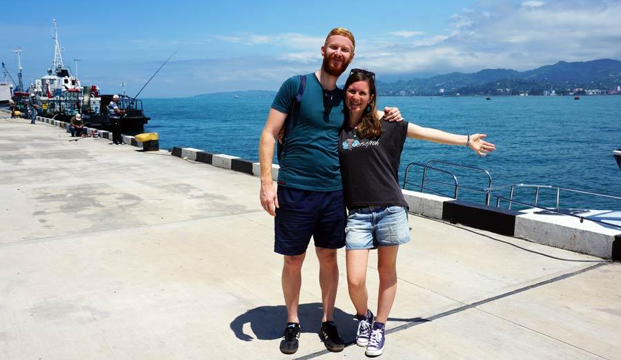 Batumi: Hafen und Chacha Tower - Reisebericht Georgien im Kaukasus