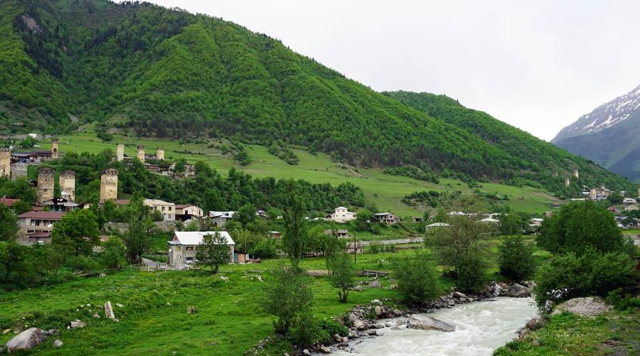 Swanetien: Wehrtürme bei Mestia im Kaukasus - Tuschetien und Mazeri