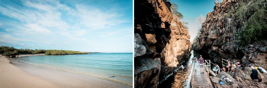 Galapagosinseln: Playa de los Alemanes, Las Grietas