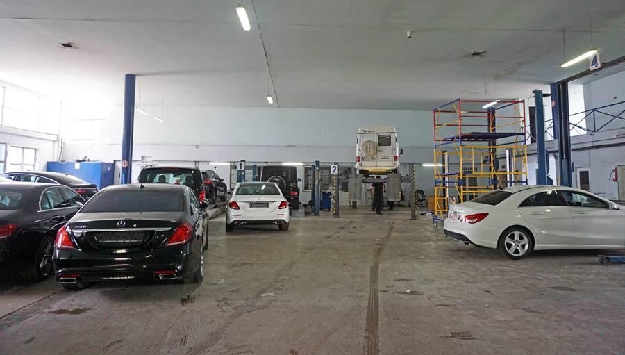 Georgien Selbstfahrer: Werkstatt und Ersatzteile