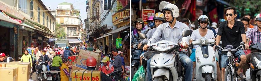 Hanoi: Metropole Vietnam mit Millionen Mopeds
