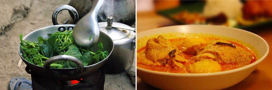 Kathmandu: Essen in Restaurants Momos und Dhal Bhat