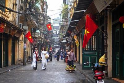Hanoi: Bia Corner in der Ta Hien Street