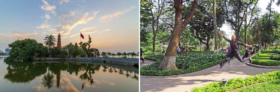 Hanoi: Hoan Kiem See und die Tran Quoc Pagode