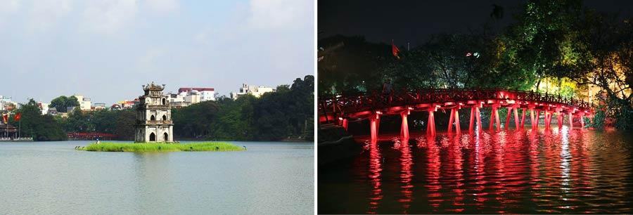 Hanoi: Schildkröten Pagode und The-Huc Brücke
