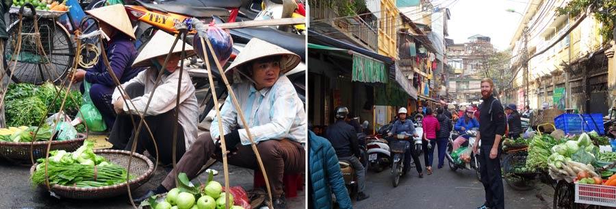 Hanoi Vietnam: Markt bzw. Marktstand