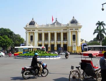 Hanoi Vietnam: Opernhaus Kolonialarchitektur