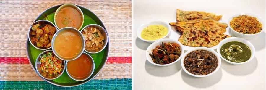 Indisches Essen: das klassische Thali Gericht