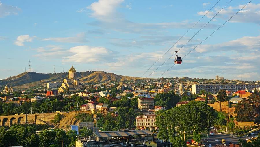 Georgien: georgische Hauptstadt Tiflis