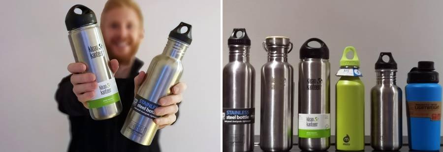 Edelstahl Trinkflasche: Material Aluminium, BPA-frei