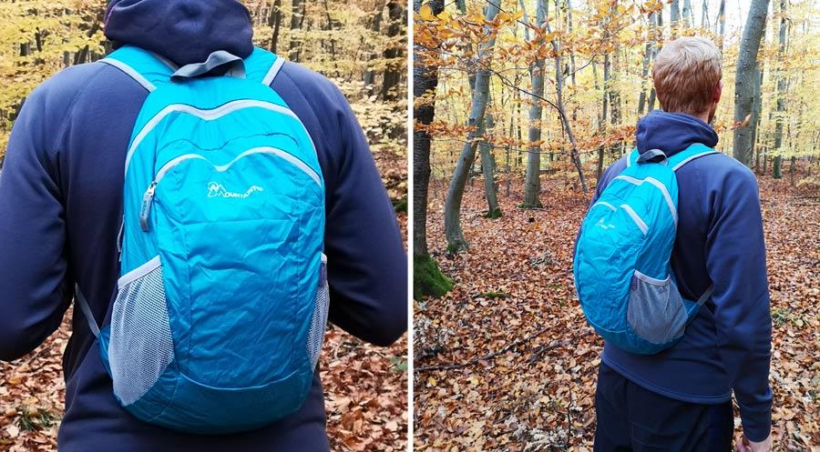 Faltbarer Rucksack: Daypack mit Reißverschluss