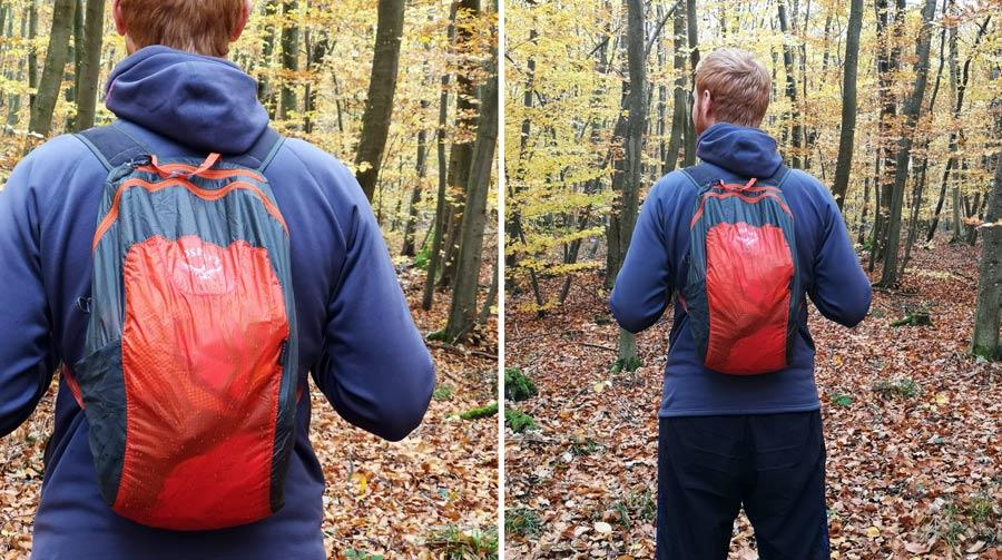 Faltbarer Rucksack: Faltrucksack Test, Schultergurt