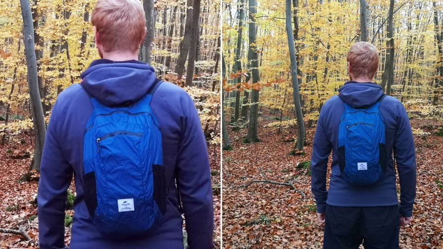 Faltbarer Rucksack Vergleich: Schultergurte Material Nylon