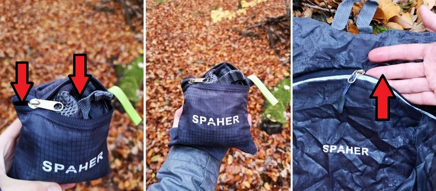 Faltbarer Rucksack: Faltrucksack Spaher Test