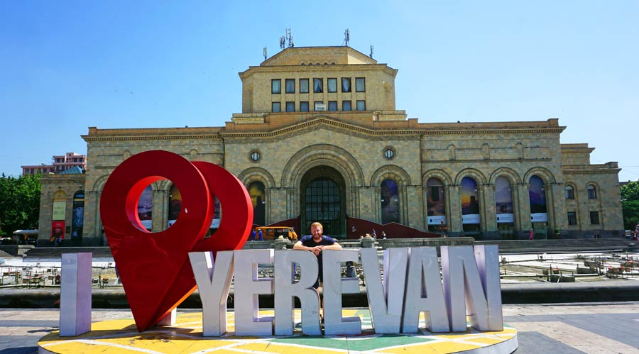 Jerewan: Platz der Republik, Stadt Armenien