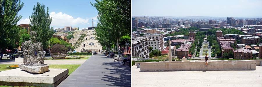 Jerewan: Kaskade Stadtzentrum