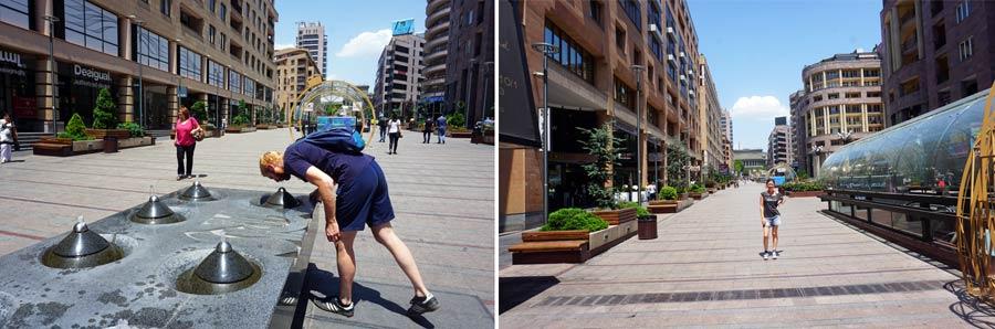 Jerewan Sehenswürdigkeiten: Fußgängerzone Zentrum Stadt