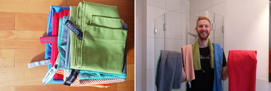 Mikrofaser Handtuch: Reise Vergleich