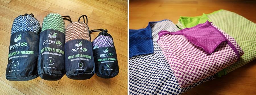 Mikrofaser Handtuch: nachhaltiges Reisehandtuch von Pandoo