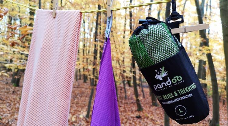 Mikrofaser Handtuch: ultrakleines Packmaß fürs Reisen