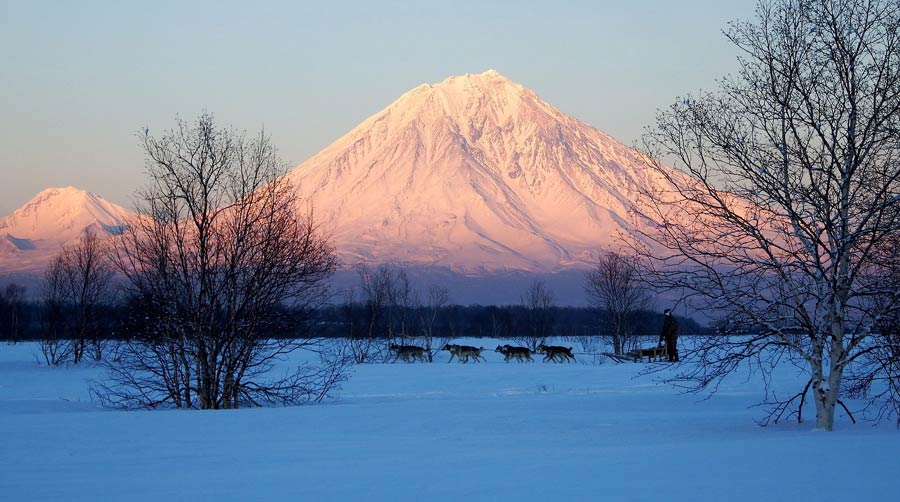 Russland Sehenswuerdigkeiten: Kamtschatka Vulkan
