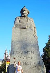Russland Sehenswuerdigkeiten: Karl Marx Statue in Moskau