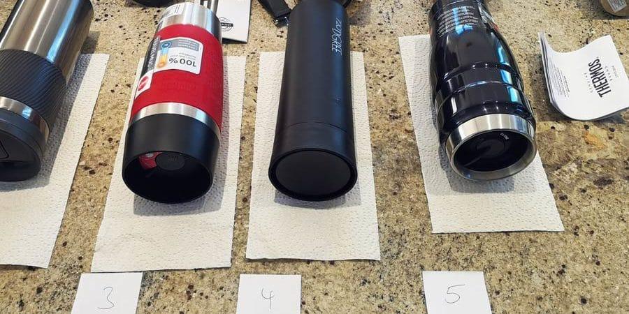 Thermobecher: Auslaufsicherheit, Deckel, Verschluss