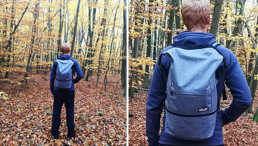Wasserdichter Rucksack: Daypack mit Rollverschluss