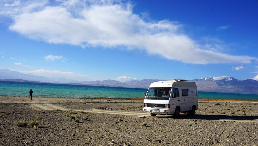 Pamir Highway: Karakul See, Lake