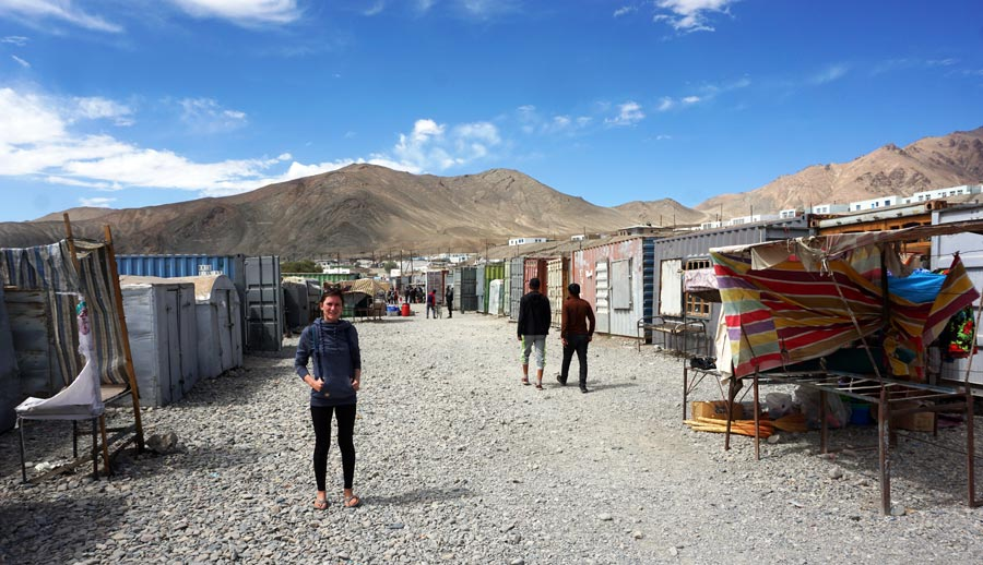 Pamir Highway: Murghab, Container Markt