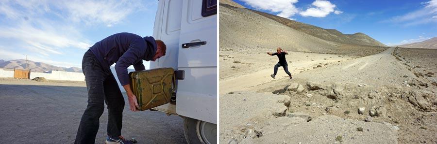 Pamir Highway, Zentralasien: Tankstelle, M41 Straße
