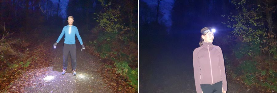 Stirnlampe Test: Nachts im Wald joggen