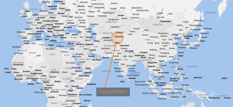 Tadschikistan: Geographie Zentralasien