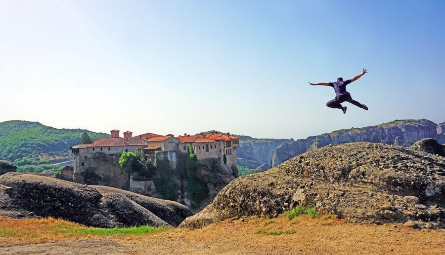 Camping Griechenland: Klöster Meteora