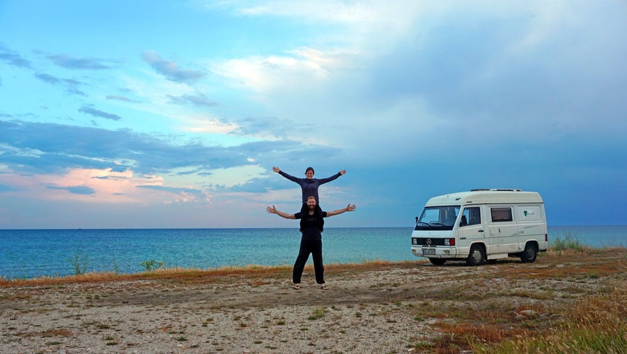 Camping Griechenland: Strand, Camper