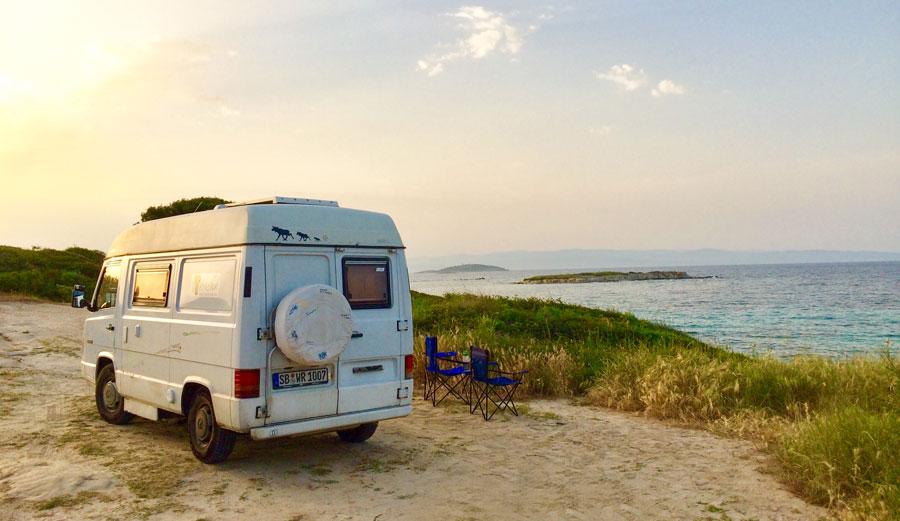 Camping Griechenland: Wohnmobil Stellplatz