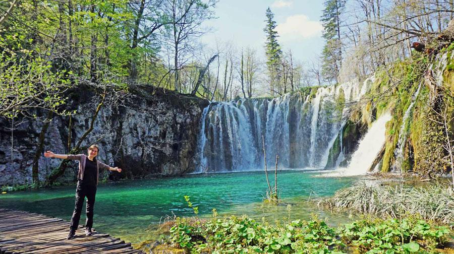 Camping Kroatien: Plitvicer Seen, Wasserfall