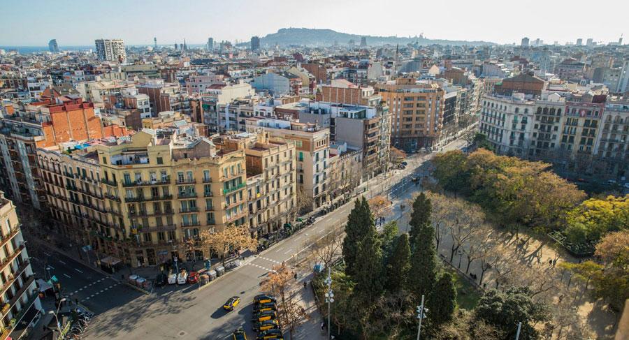 Barcelona Sehenswürdigkeiten: Aussicht Stadt
