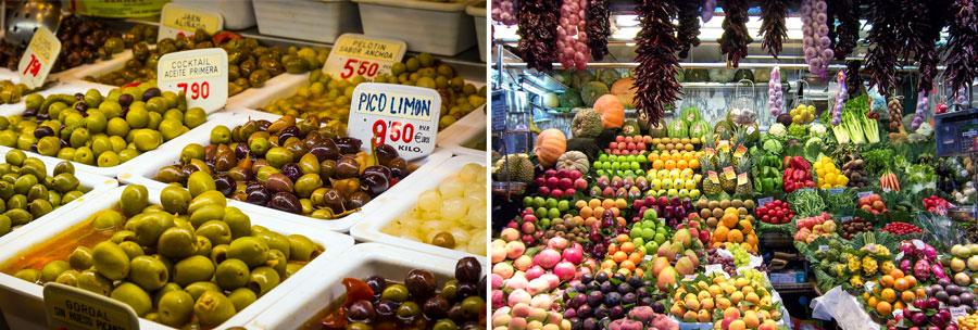 Barcelona Sehenswürdigkeiten: Markt, Stadt