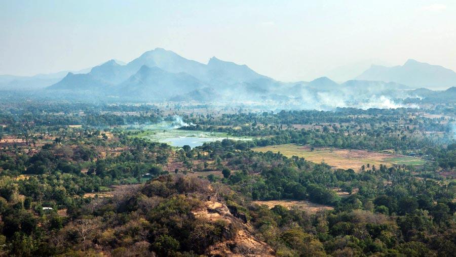 Sri Lanka Sehenswürdigkeiten: Sigiriya Ausblick
