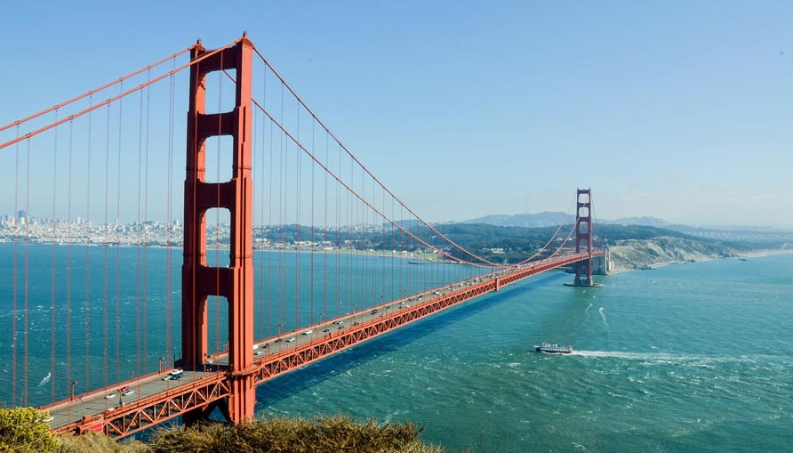 USA Visa: Reisepass, Einreise, Golden Gate Bridge