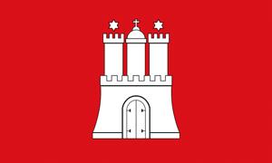 Hamburg Sehenswürdigkeiten: Flagge, Wappen