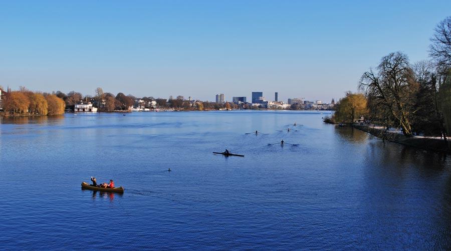 Hamburg Sehenswürdigkeiten: Alster, Außenalster