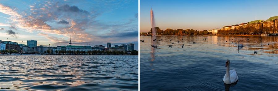 Hamburg Sehenswürdigkeiten: Alster, Binnenalster