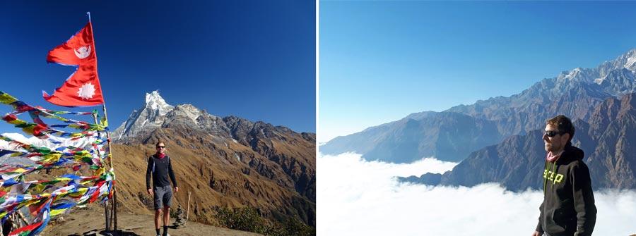 Mardi Himal Trek: Aussichtspunkt, Viewpoint