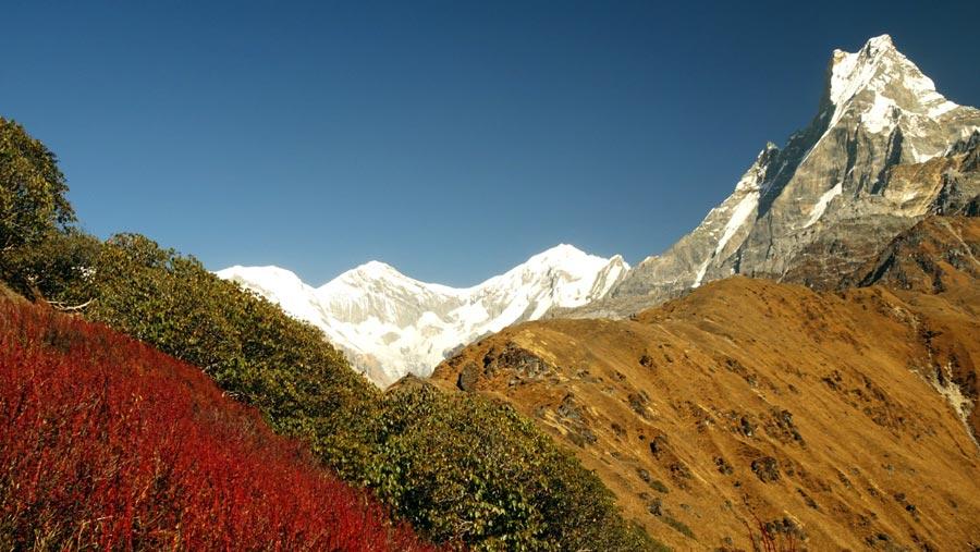 Mardi Himal Trek: Berg, Gipfel, Machapuchare