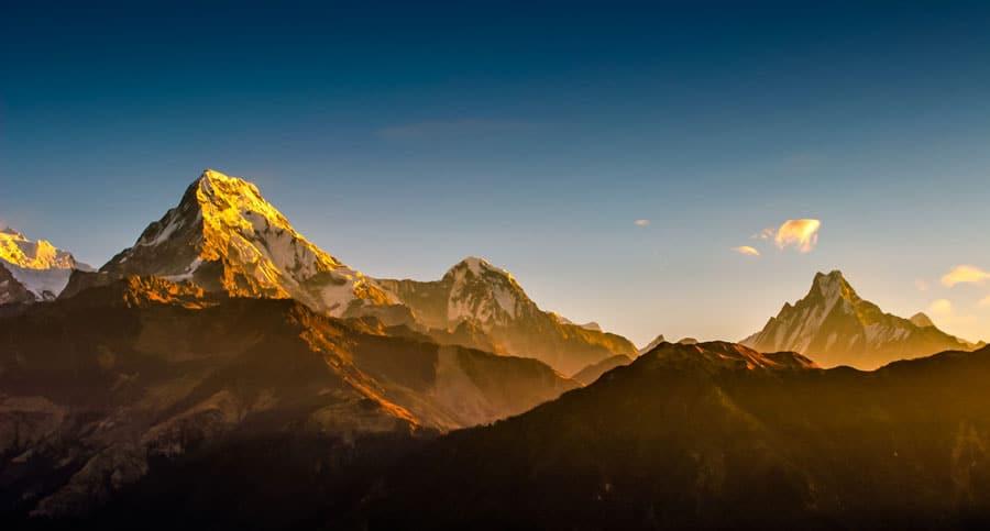 Mardi Himal Trek: Annapurna Massiv, Berg Machapuchare